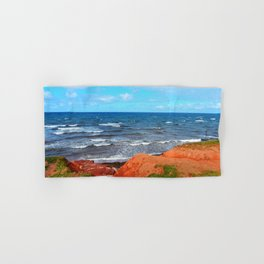 Rolling Waves in East Point PEI Hand & Bath Towel