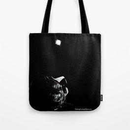 Full Moon Black and White Tote Bag