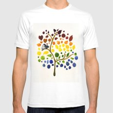 Love Birds X-LARGE White Mens Fitted Tee