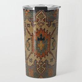 Persia Heriz 19th Century Authentic Colorful Orange Blue Green Vintage Patterns Travel Mug