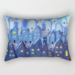 Cidade à Noite Rectangular Pillow