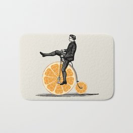 Orange Bicycle Bath Mat