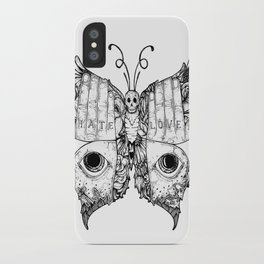 hate love butterfly iPhone Case