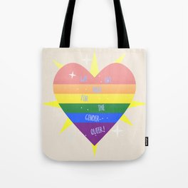 WE 'RE (WITH) THE QUEER! Tote Bag