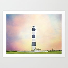 Bodie Lighthouse - Outer Banks Art Print