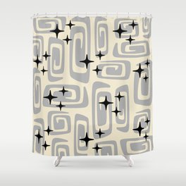 Mid Century Modern Cosmic Galaxies 438 Gray Shower Curtain