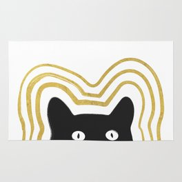 Golden Cat Vibes Rug