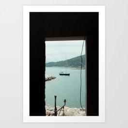 Boat in Portovenere Art Print