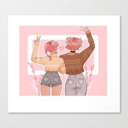 Pastel Sweet Hearts Canvas Print