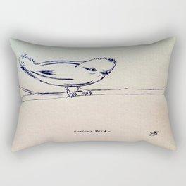 Curious Bird Ink Drawing Rectangular Pillow
