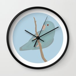 Blue Fallow Pacific Parrotlet Wall Clock