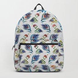 Turkish tulip - Ottoman tile pattern 1 Backpack