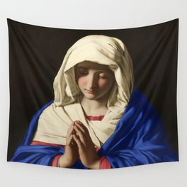 The Virgin in Prayer by Giovanni Sassoferrato (c. 1645) Wall Tapestry