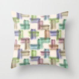 Watercolor brush strokes. Throw Pillow