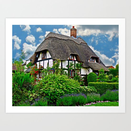 Quaint English Cottage Art Print by Scenic View ... Quaint English Cottages