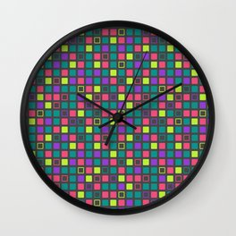 Night On The Town Square Pattern Wall Clock