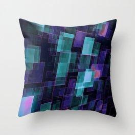 Tech squares Throw Pillow