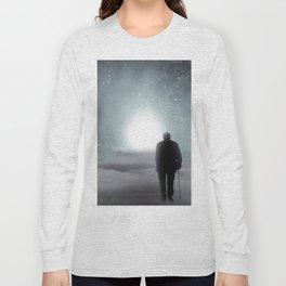 Old Man Walking Towards Heaven Long Sleeve T-shirt