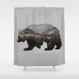 The Kodiak Brown Bear Shower Curtain