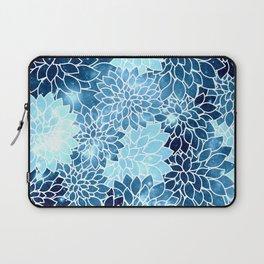 Space Dahlias Blue Ice Laptop Sleeve