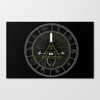 bill cipher Canvas Prints featuring BILL CIPHER  by Danger Child