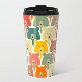 Bears cartoon pattern Travel Mug