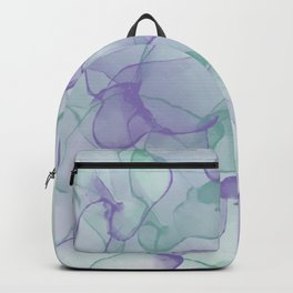 Purple and Green Colorful Alcohol Ink Pattern Backpack