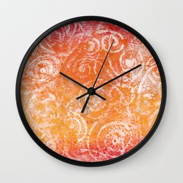 Gelatin Monoprint 20 Wall Clock