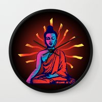 buddha Wall Clocks featuring Buddha by famenxt