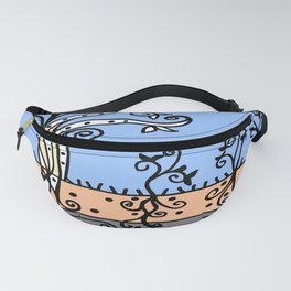 Strong Roots - Blue Mustard Yellow Fanny Pack