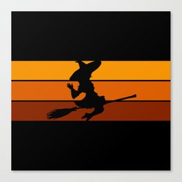Witch - Orange Canvas Print