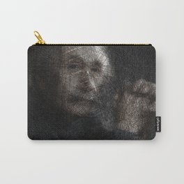 Albert Einstein, a String Art Portrait Carry-All Pouch
