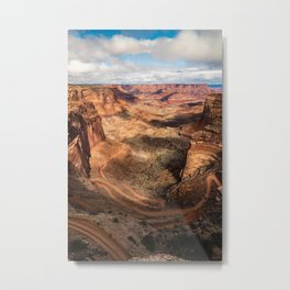 Shafer Trail Canyon, Canyonlands National Park Metal Print