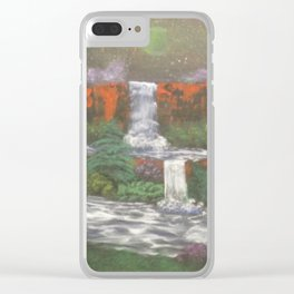 Space falls Clear iPhone Case