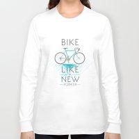 bike Long Sleeve T-shirts featuring bike by Claudio Nozza Art