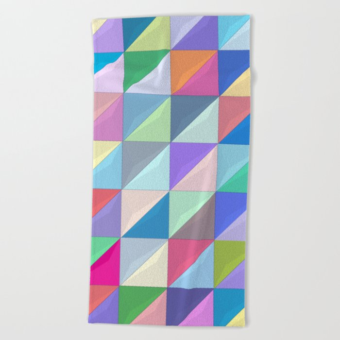 Geometric Shapes I Beach Towel