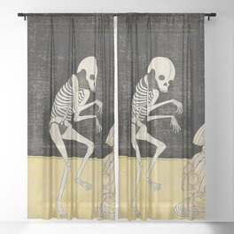 SPIRIT OF THE RENEGADE MONK SEIGEN - KATSUKAWA SHUNSHO Sheer Curtain