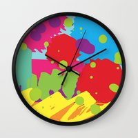 graffiti Wall Clocks featuring Graffiti by rivercbishop