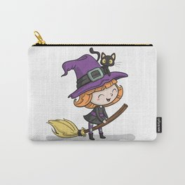 Cute Halloween Witch illustration Carry-All Pouch