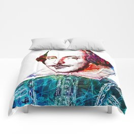 Graffitied Shakespeare Comforters