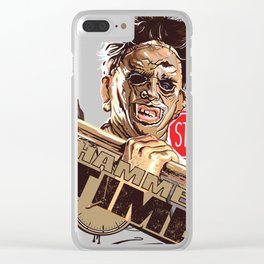 $top!Hammer Time Clear iPhone Case