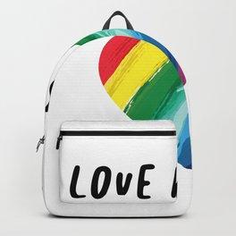 Love LGBT Gay Pride Gift Backpack