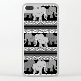 Traveling Elephants Clear iPhone Case