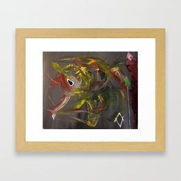 Dancing Elephant Framed Art Print