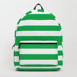 Horizontal Green Stripes Backpack