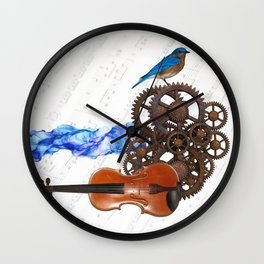 Music Collage Wall Clock