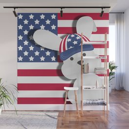 INDEPENDENCE DAY BUNNY Wall Mural