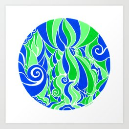 Water Life :: Color Therapy Collection :: Art Print