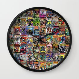 Comic Books Wall Clock