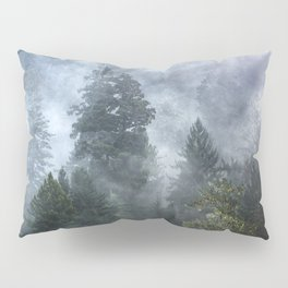 Smoky Redwood Forest Foggy Woods - Nature Photography Pillow Sham